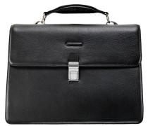 Modus Aktentasche Leder 42 cm Laptopfach schwarz