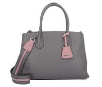 Calf Adria Handtasche Leder 34 cm zinc-rosa