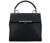 Sac A Main A Rabat Handtasche Leder 26 cm noir