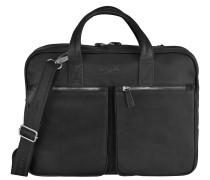 Sartoria Aktentasche Leder 40 cm Laptopfach schwarz