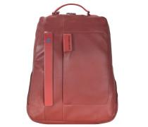 Pulse Business Rucksack I Leder 42 cm Laptopfach ziegel