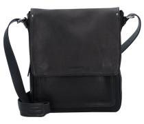 Ivy Lane Messenger Tasche Leder 27 cm Laptopfach schwarz
