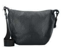 Mellow Umhängetasche Leder 22 cm nero