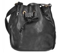 Nespolo Beuteltasche Leder 16 cm black