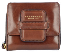Cortona Geldbörse Leder 12 cm marrone tb