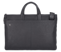 Black Square Laptoptasche Leder 47 cm