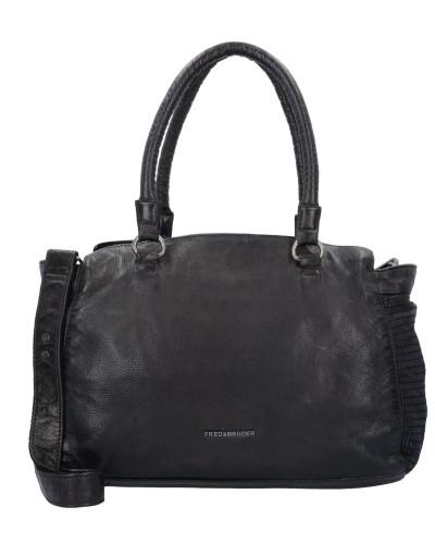 FREDsBRUDER Damen Gloria Day Schultertasche Leder 36 cm black Verkauf Niedrigster Preis Billig Verkauf Offizielle Seite Angebote Günstiger Preis 5xtgrrnwE