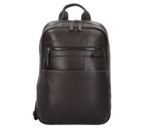 Formalite LTH Business Rucksack Leder 38 cm Laptopfach dark brown