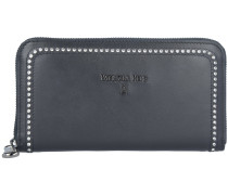 Leather Micro Crystal Geldbörse Leder 19 cm