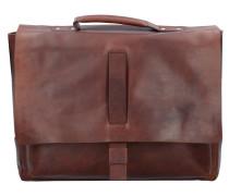 Loreto Kreon Aktentasche Leder 39 cm Laptopfach dark brown
