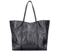 Borsa Shopper Tasche Leder 38 cm metal grey