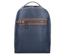 Scott Rucksack Leder 40 cm Laptopfach blue