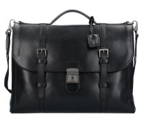 Byron Aktentasche Leder 39 cm Laptopfach nero abb. rutenio scuro opaco