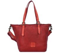 Tarassaco Shopper Tasche Leder 23 cm red