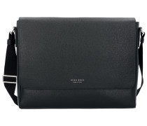 Signature Messenger Umhängetasche Leder 36 cm black