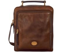 Brera Umhängetasche Leder 22 cm marrone
