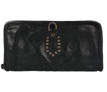 Portafoglio Geldbörse Leder 21 cm nero