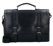 Roma Aktentasche Leder 39 cm Laptopfach schwarz