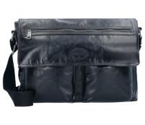 Transit Messenger Leder 40 cm schwarz