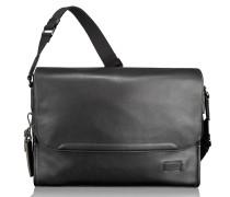 Harrison Mathews Messenger Leder 38 cm Laptopfach black