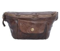 Gürteltasche Leder 27 cm brown