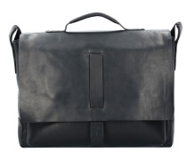 Loreto Kreon Messenger Aktentasche Leder 39 cm Laptopfach black