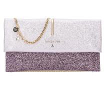 Glitter Clutch Tasche Leder 28 cm