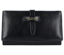 Florentin Geldbörse Leder 17 cm black gold