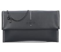 Shiny Crystal Clutch Tasche Leder 28 cm