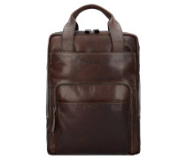 Coleman 2.0 Business Rucksack Leder 40 cm Laptopfach darkbrown