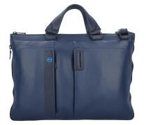 Expandable Slim Aktentasche Leder 43 cm Laptopfach midnight blue