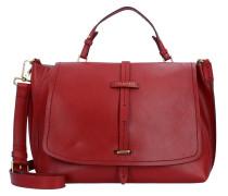 Dalston Handtasche Leder 37 cm red currant