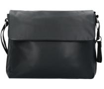 Long Island Umhängetasche Leder 38 cm black