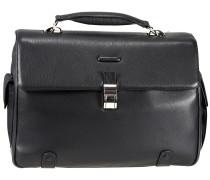 Modus Aktentasche Leder 44 cm Laptopfach schwarz