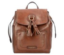 Santacroce City-Rucksack Leder 23 cm marrone tb