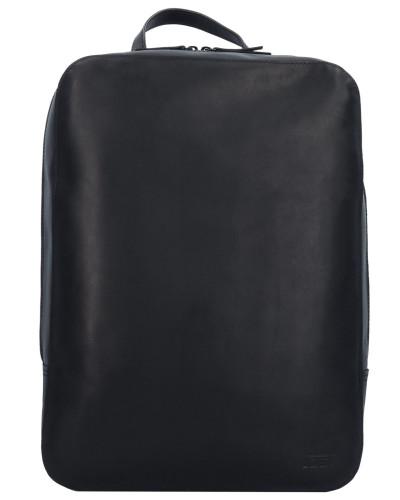 Futura Rucksack Leder 39 cm Laptopfach black