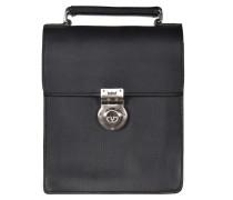 Tradition Handtasche Leder 17 cm schwarz