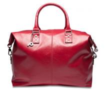 Weekend Weekender Reisetasche Leder 45 cm red