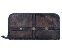 Traditional Clematide Geldbörse Leder Damen 21 cm grigio