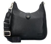 Ramona Umhängetasche Leder 28 cm schwarz
