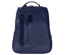 Pulse Business Rucksack I Leder 42 cm Laptopfach midnight blue