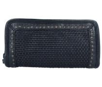 Geldbörse Leder 21 cm black