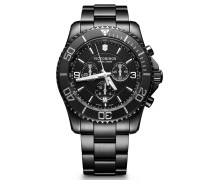 Maverick Black Edition Chronograph Taucheruhr Edelstahl
