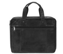 Bronco Business Handtasche Leder 36 cm black