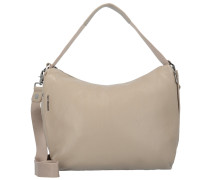 Mellow Schultertasche Leder 31 cm simply taupe