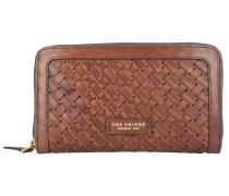 Salinger Geldbörse Leder 19 cm marrone