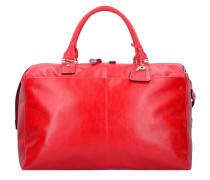 Weekender Reisetasche 52 cm Leder rot