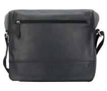 Narvik Umhängetasche M Leder 30 cm Laptopfach black