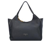 Borsa Shopper Tasche Leder 35 cm black/shiny gold