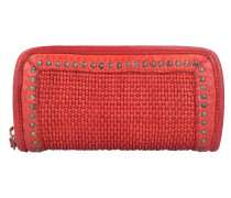 Geldbörse Leder 21 cm red